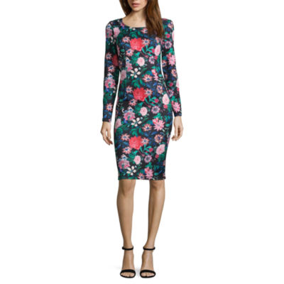 Project Runway Floral Bodycon Dress