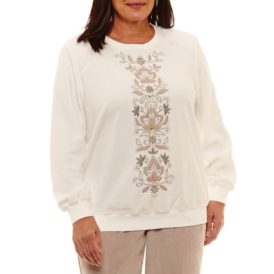 Alfred Dunner Eskimo Kiss Center Embroidery T-Shirt-Plus