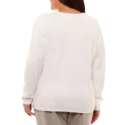 Alfred Dunner Eskimo Kiss Colorblock Pullover Sweater-Plus
