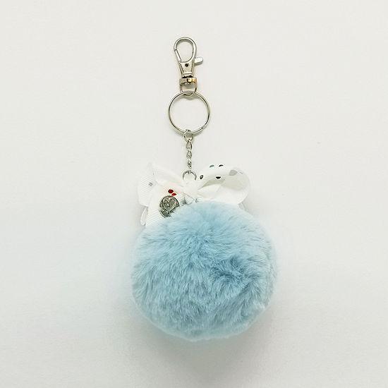 JoJo Siwa Light Blue Pom Keychain