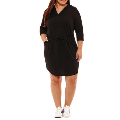 City Streets 3/4 Sleeve Sweater Dress - Plus