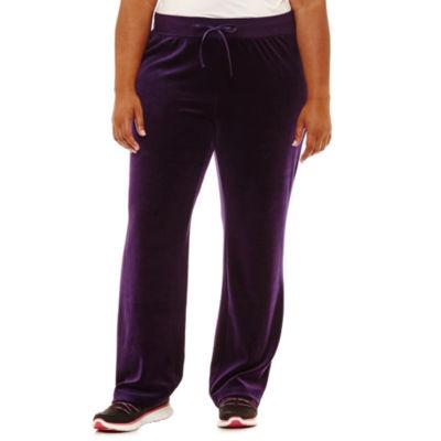 St. John's Bay Active Velour Track Pants-Plus