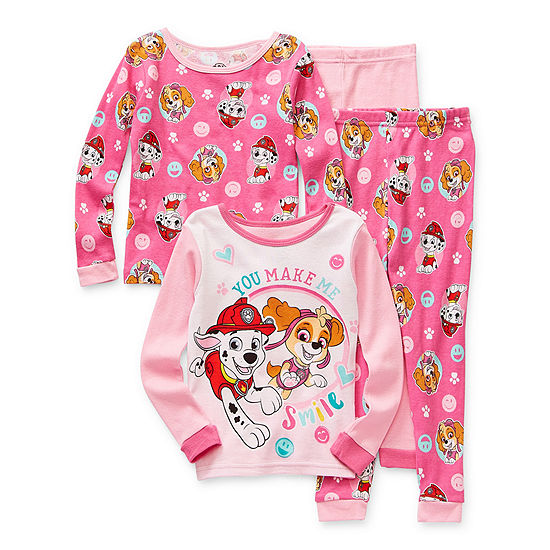 Toddler Girls 4-pc. Paw Patrol Pajama Set