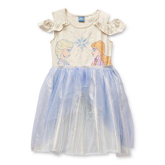 Disney Little & Big Girls Sleeveless Frozen Tutu Dress