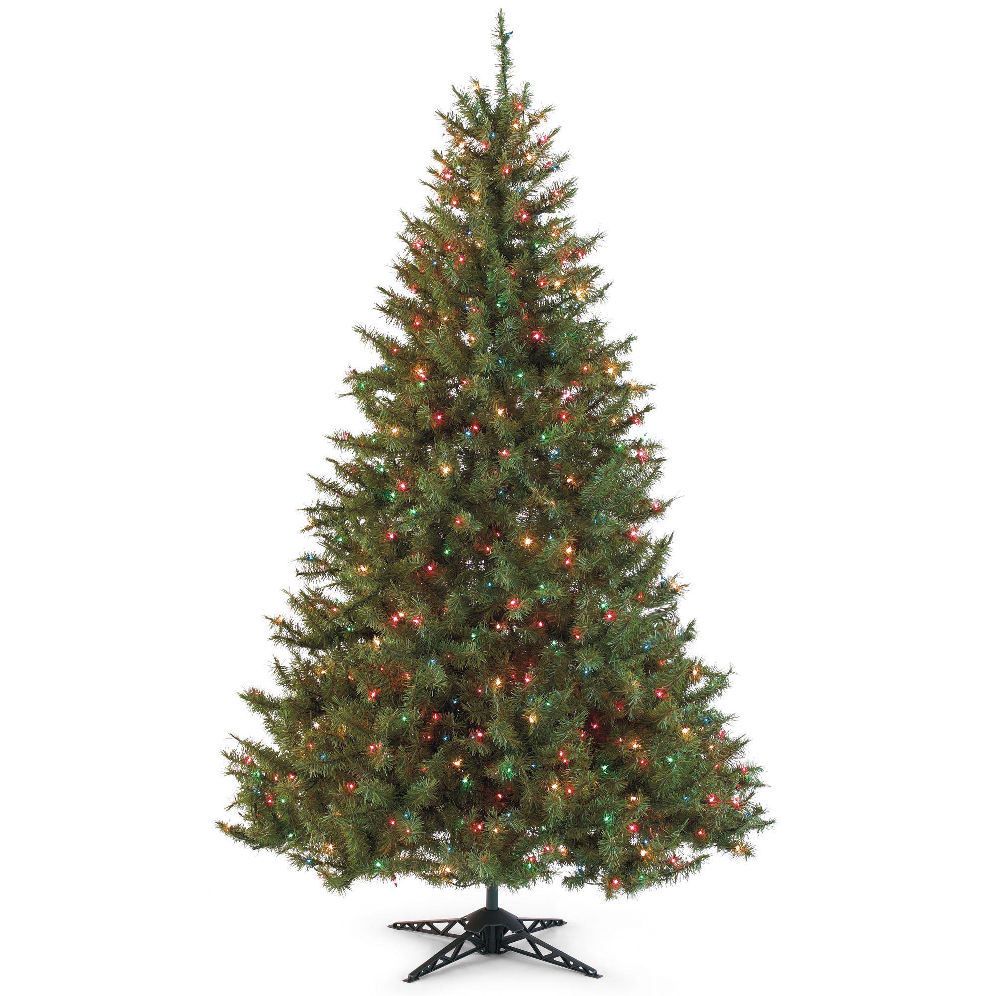 9' Slim Pre-Lit Balsam Fir Christmas Tree