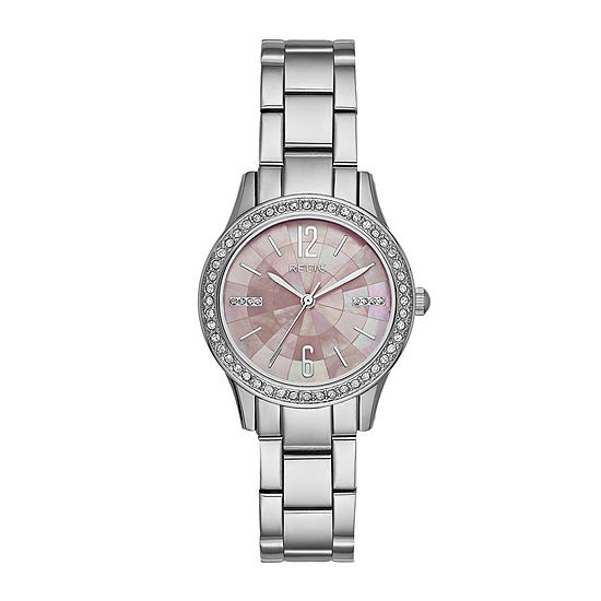 Relic By Fossil Womens Silver Tone Stainless Steel Bracelet Watch-Zr12176