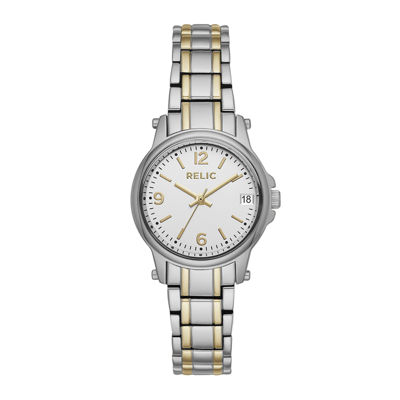 Relic® Womens Two-Tone Zr34347 Bracelet Watch