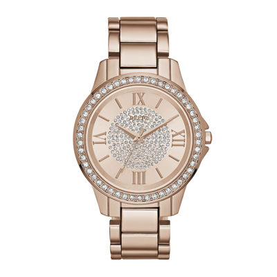 Relic® Womens Rose Crystal Zr12178 Bracelet Watch