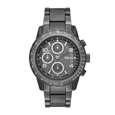 Relic® Mens Gunmetal Zr15816 Watch