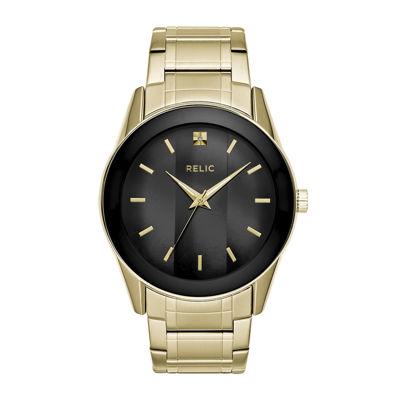 Relic By Fossil Mens Gold Tone Bracelet Watch-Zr77273
