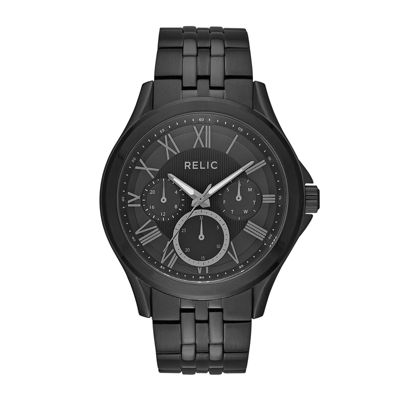 Relic® Mens Black Zr15820 Watch