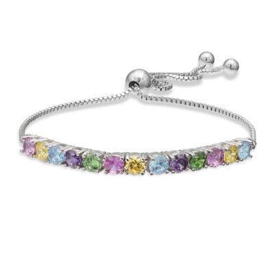 Sparkle Allure™ Silver-Plated Multicolor Cubic Zirconia Bracelet