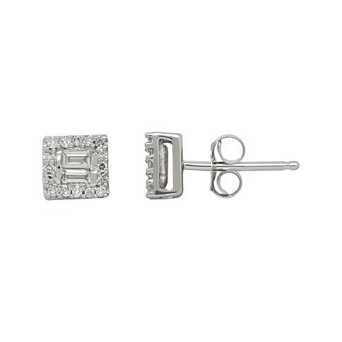 1/5 CT. T.W. Diamond 10K White Gold Earrings