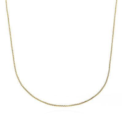 Made in Italy 14K Yellow Gold Round Box Chain