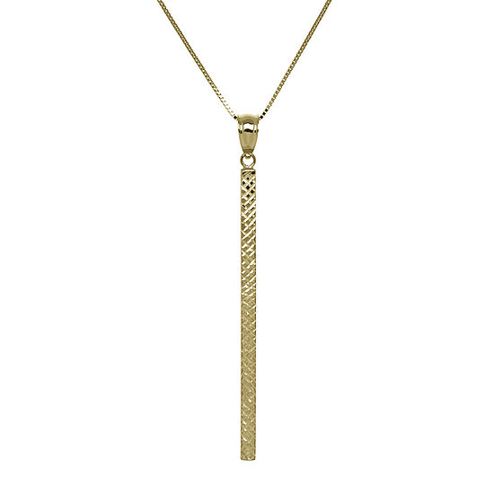 14k yellow gold square tube bar pendant necklace jcpenney 14k yellow gold square tube bar pendant necklace aloadofball Choice Image