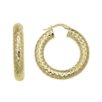 Made in Italy 14K Yellow Gold Round Hoop Earrings