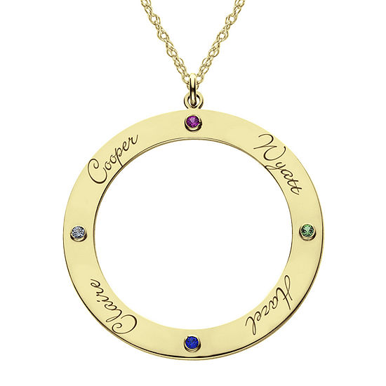 Personalized 14K Gold Over Silver Pendant Necklace