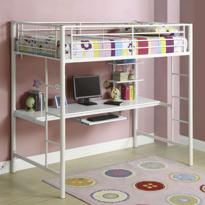 Pearson Twin Loft Bed Over Workstation