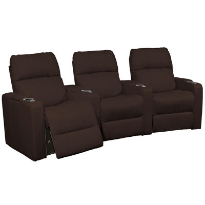 Alex Metro Leather 3-pc. Home Theater Curved Seating Set