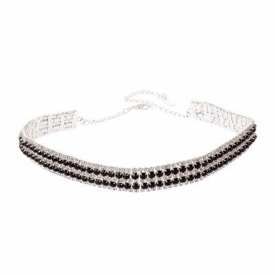 Natasha Accessories Womens Multi Color Choker Necklace