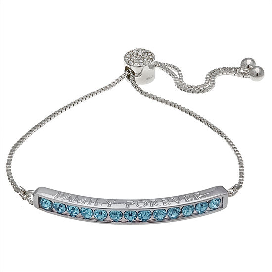 Sparkle Allure Blue 7.5 Inch Box Stretch Bracelet