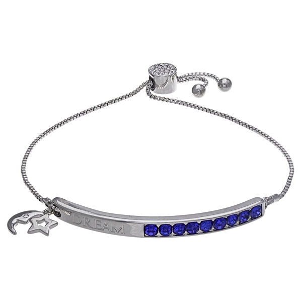 Sparkle Allure Womens Blue Stretch Bracelet