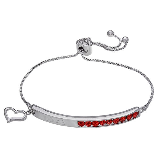 Sparkle Allure Red Heart Stretch Bracelet