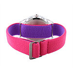 Disney Minnie Mouse Girls Pink Strap Watch-W002159