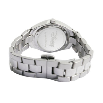 Disney Minnie Mouse Womens Silver Tone Bracelet Watch-59006-1
