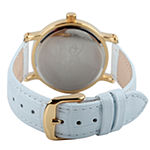 Disney Minnie Mouse Womens White Leather Strap Watch-W001859