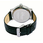 Disney Collection Minnie Mouse Womens Black Leather Strap Watch-W001878