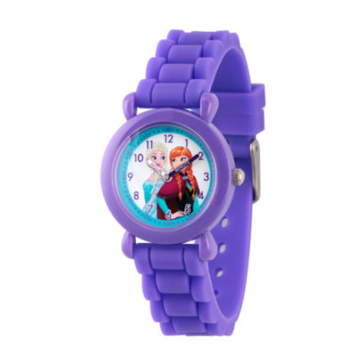 Disney Frozen Girls Purple Strap Watch-Wds000004