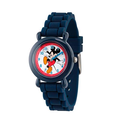 Disney Mickey Mouse Boys Blue Strap Watch-Wds000012