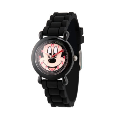 Disney Mickey Mouse Boys Black Strap Watch-Wds000014