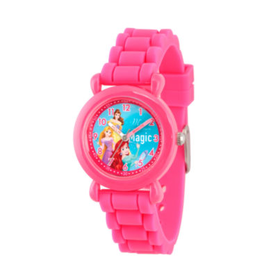 Disney Disney Princess Girls Pink Strap Watch-Wds000015