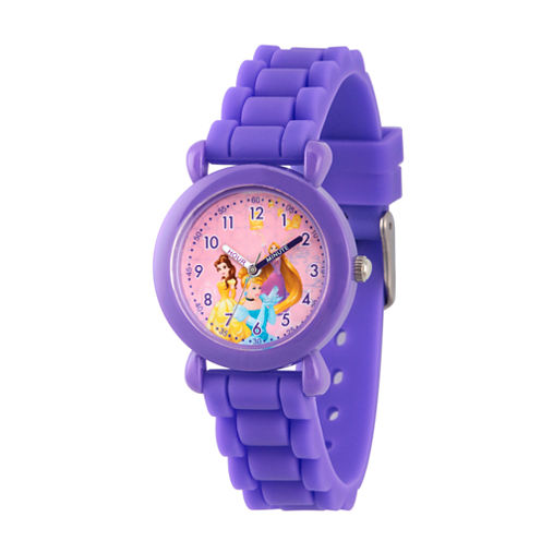 Disney Disney Princess Girls Purple Strap Watch-Wds000016