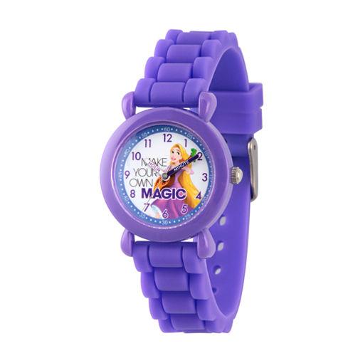 Disney Disney Princess Girls Purple Strap Watch-Wds000018