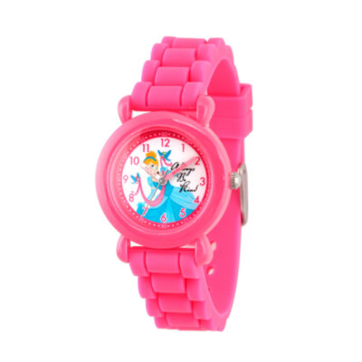 Disney Disney Princess Girls Pink Strap Watch-Wds000019