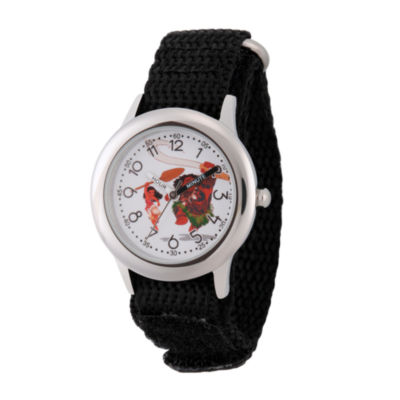 Disney Moana Boys Black Strap Watch-Wds000030