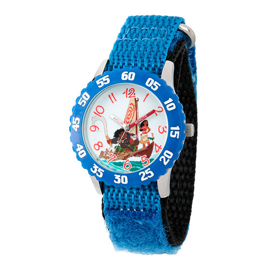 Disney Moana Boys Blue Strap Watch-Wds000031