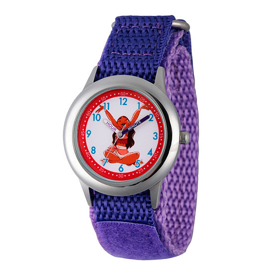 Disney Moana Girls Purple Strap Watch-Wds000034