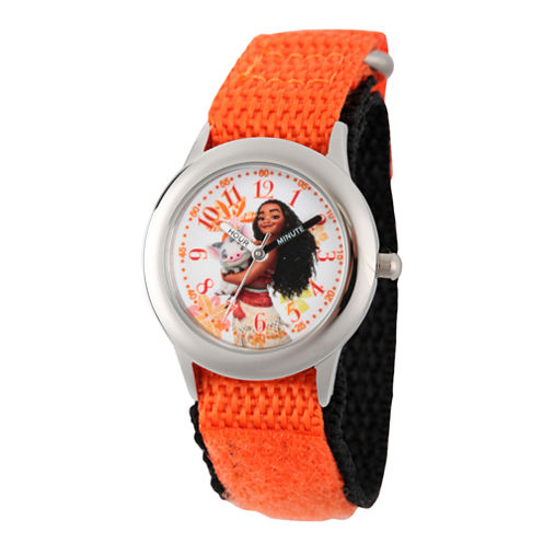 Disney Moana Girls Orange Strap Watch-Wds000035