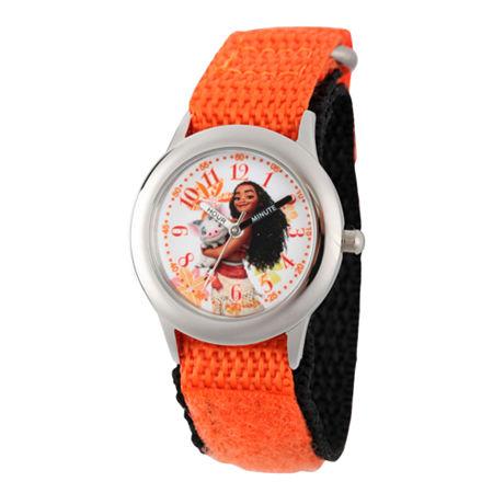Disney Moana Girls Orange Strap Watch-Wds000035. One Size