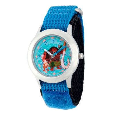 Disney Moana Boys Blue Strap Watch-Wds000036