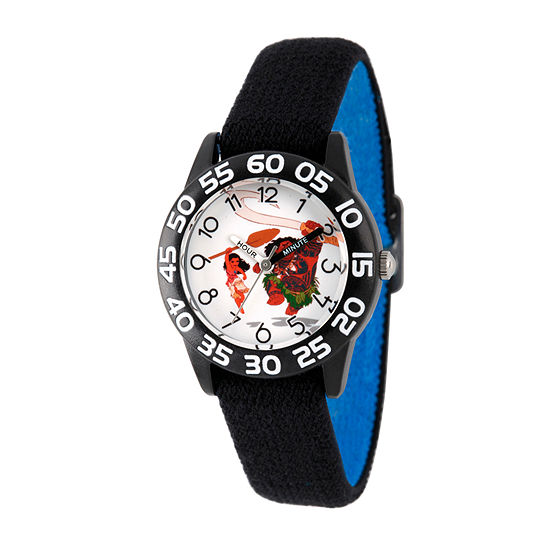 Disney Moana Boys Black Strap Watch-Wds000037
