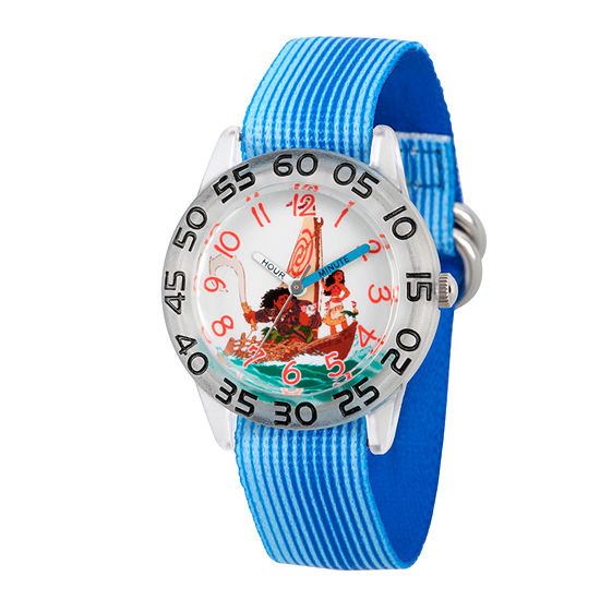 Disney Moana Boys Blue Strap Watch-Wds000038