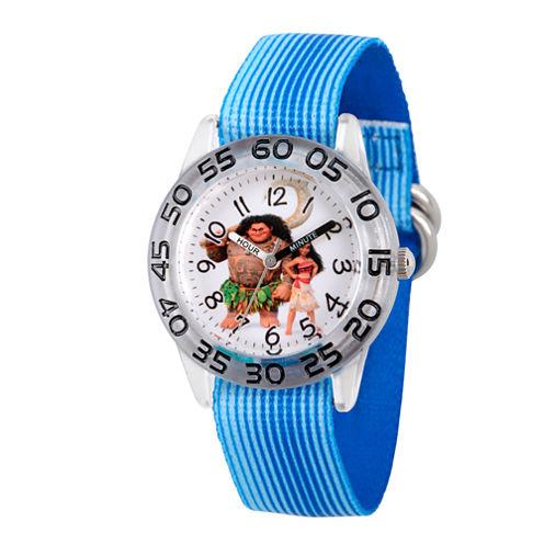Disney Moana Boys Blue Strap Watch-Wds000039