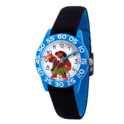 Disney Moana Boys Black Strap Watch-Wds000040