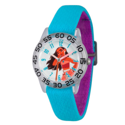 Disney Moana Girls Blue Strap Watch-Wds000042