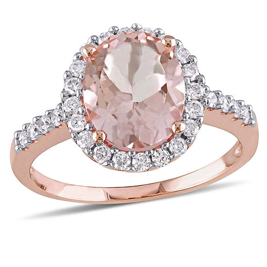Pink Morganite 10K Gold Engagement Ring